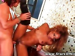 Marie Luv ebony doggystyle for her stud