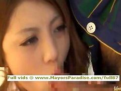 Risa Tsukino innocent amateur Chinese blowjobs and gets cumshoot