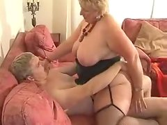 BBW sucks a cock and gets her snatch pounded every which way