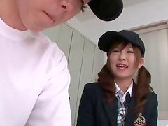 Miku Airi Gives A Baseball Player A BJ