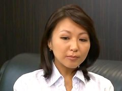 Beautiful Japanese Secretary Reiko Ishino Fucked Hard by Her Boss