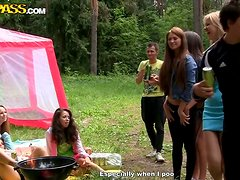 Lucky Guy Gets To Fuck Two Beautiful Babes Outdoors