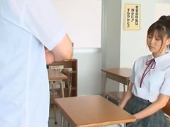 Cock Sucking Japanese School Girl Tsukasa Aoi Enjoying a Blowjob