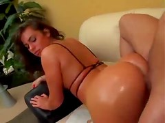 Naomi Russell oiled up hardcore anal sex