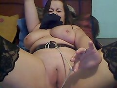 Hot girl playing with a rope in her anus
