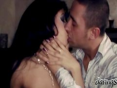 A lucky dude makes love to pretty brunette Oliva after making out with her