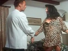 Horny Brunette Gets Analized and Facialized by Rocco Siffredi in Retro Vid