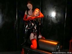 Dominant Anastasia Pierce Punishing Madison Young with a Strapon Fuck