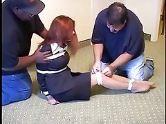 Business Woman Hogtied