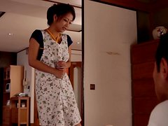 Japanese Housewife Doing House Work With A Vibe Up Her Snatch.