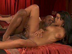 Hardcore ebony Rihanna Rimes is fucking like crazy