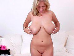 Hot blonde Charley G shows off her cute pussy
