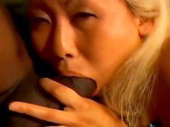 Negra - horny korean girl fucks with a black guy