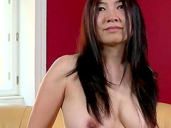 Horny asian mature gives wild show