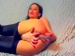 Sexy ass play dildo girl