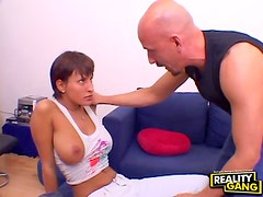 European whore shows up for cock