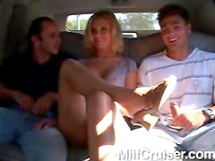Blonde beauty hardcore threesome scene