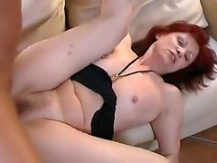 Skinny mature redhead with hairy box pounded