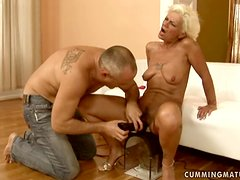 Orhidea gets her old holes fingered and fucked with various toys