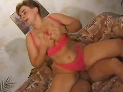 Sexy and busty mature lady takes him for a hot ride