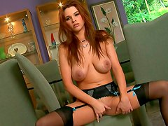 Busty sologirl is showing her big tatas