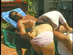 Teen is worshipful of his cock outdoors
