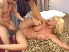 Big cock pounds into the slutty blonde whore