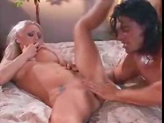 Eating out blonde pornstar Katie Morgan