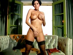 Dylan Ryder models a tight sexy corset