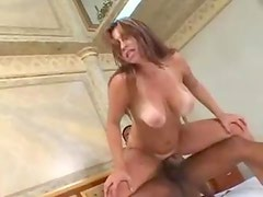 BBC in the curvy chick with big natural titties