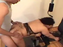 Black guy slams the fat chick wicked hard