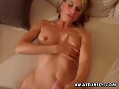 Hot amateur girlfriend homemade cumshots compilation