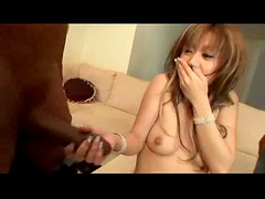 Japanese girl first time with black guys
