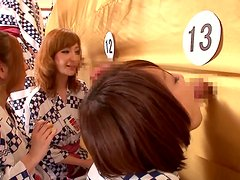 Horny milf Tsubomi gets naked with bunch of strangers