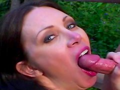 Busty milf gets nailed in outdoor fuck