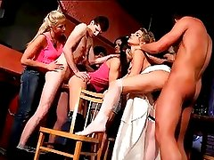Hot Cfnm Teen Bride Orgy With Cu...