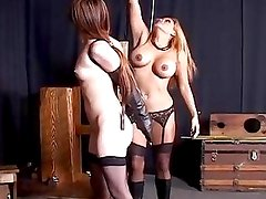 Asian Lesbian Gets Tied Up And P...