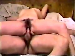 Hirsute Mature Wife Reverse Riding Husband in Home Sex Tape