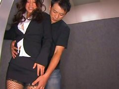 Spectacular Rie Suzumiya In Sexy Clothes Sucking and Titty Fucking