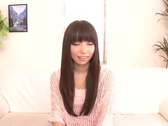 Lovable Japanese chick gets cum in her mouth
