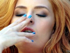 Have fun with beautiful and sensuous red-head babe Ashley Graham.