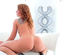 Inari Vachs takes off her clothes and teases us with her appetizing fat bottom
