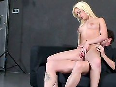 Backstage with an amazing girlfriend Bibi Noel who sucks a big and tasty dick