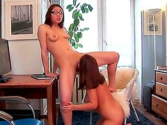 Dominica and Macy are two hot and yummy college chicks that are always ready for a dirty homework