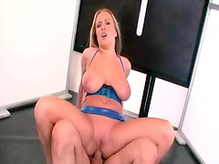 Slut in shiny clothes fucked up the ass