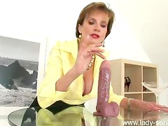 Handjob for a big dildo