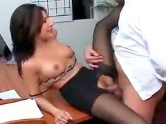 Banging slutty coworker in pantyhose