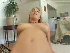 Blonde with big blue eyes in hot POV scene