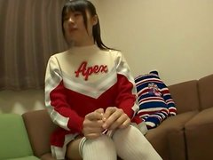 Japanese Cheerleader Giving Head in POV Blowjob Vid