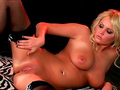Busty blonde is eager for pleasure